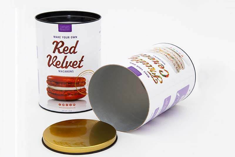 food grade paper round macaron boxes