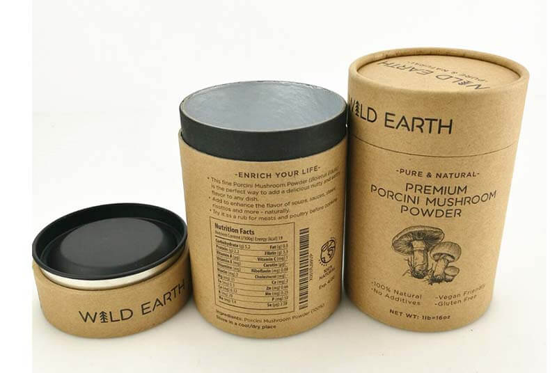 biodegradable food airtight paper tube packaging