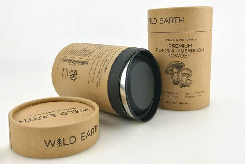cardboard tube packaging with metal cap