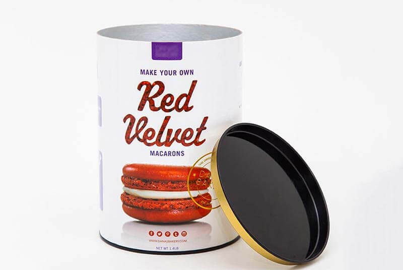 round cardboard tube box for macarons