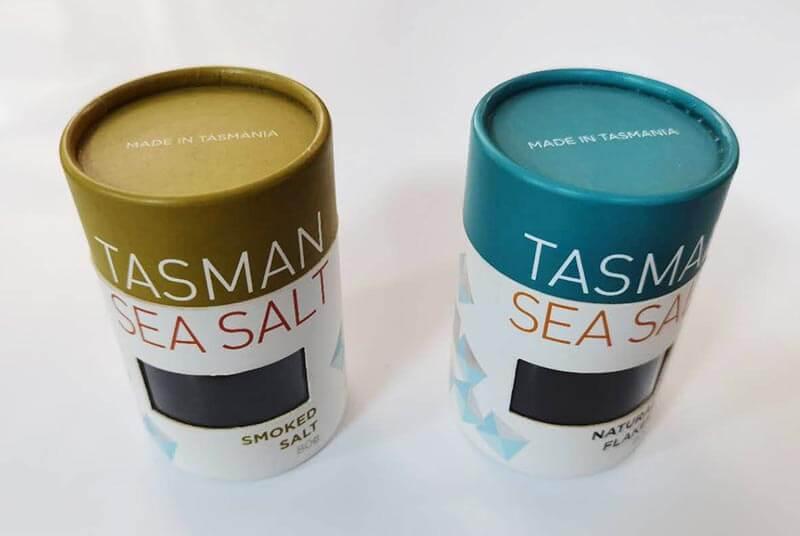 clear pvc window bleu sea salt packaging