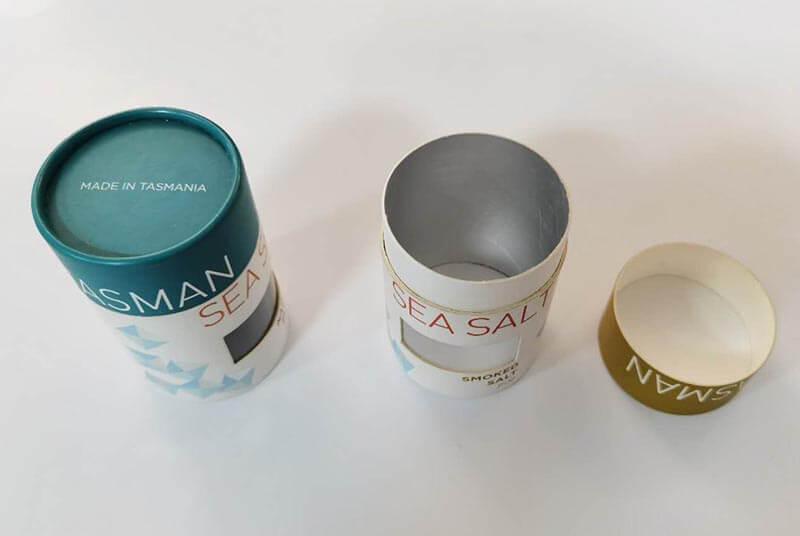 natural sea salt cardboard food grade container