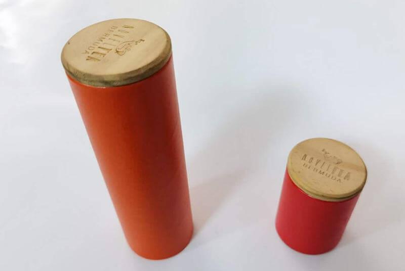 wooden cap cardboard tube packaging for food