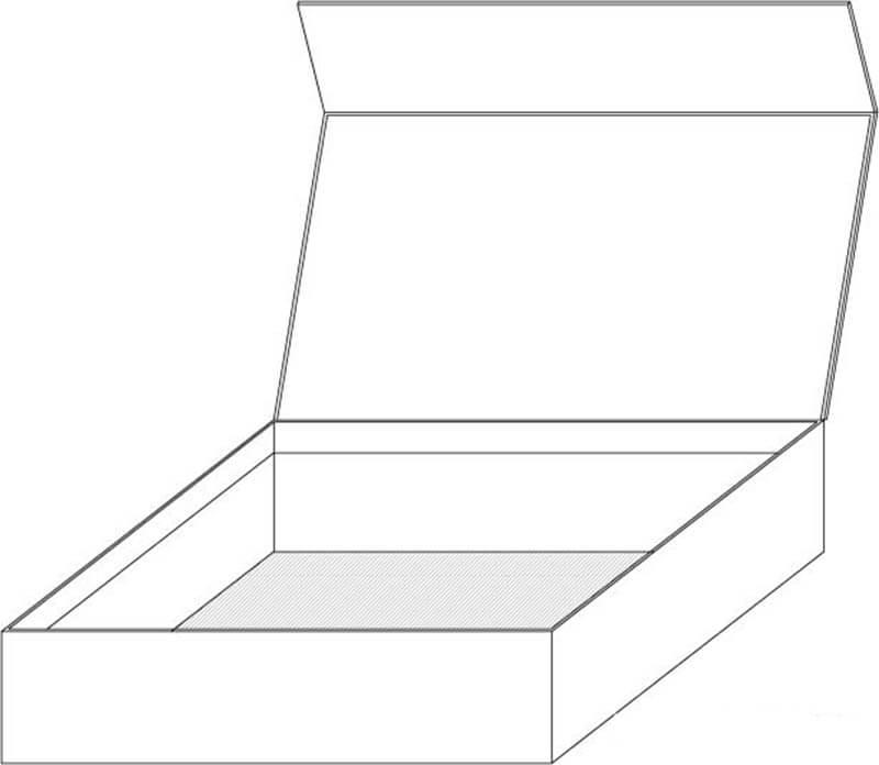 magnet paper flip open box