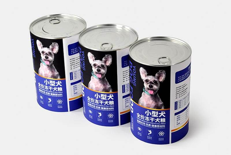 sustainable pet food boxes round packaging
