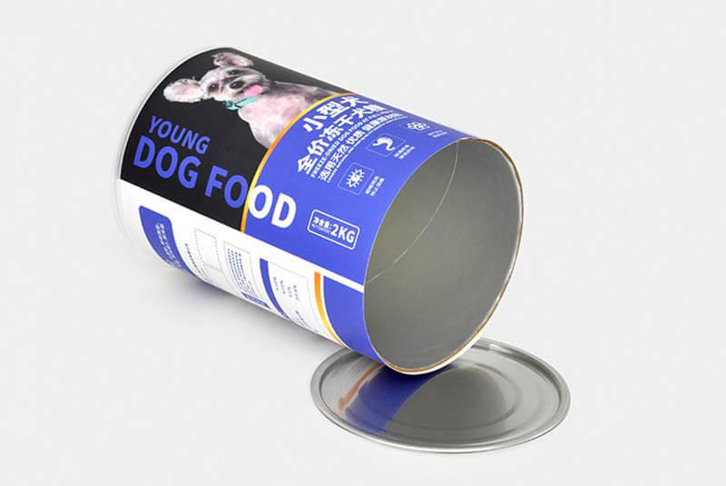 pet dog food tube packaging easy open lid