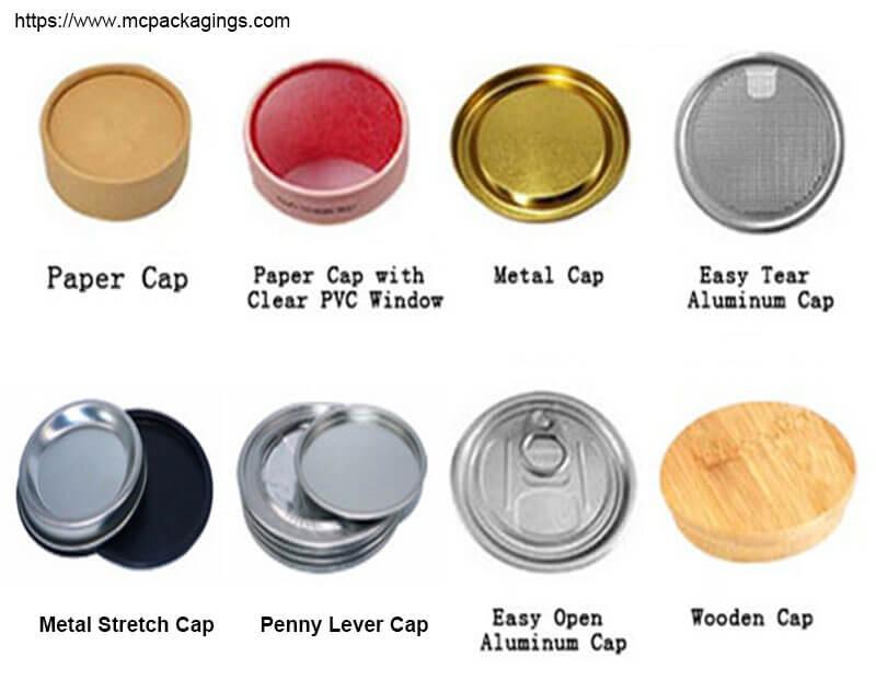 cardboard tube box top cap lids