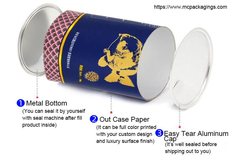 food tube packaging with tearable top