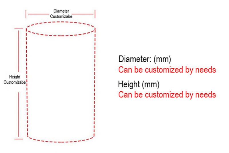 cardboard cylindrical packaging box custom size