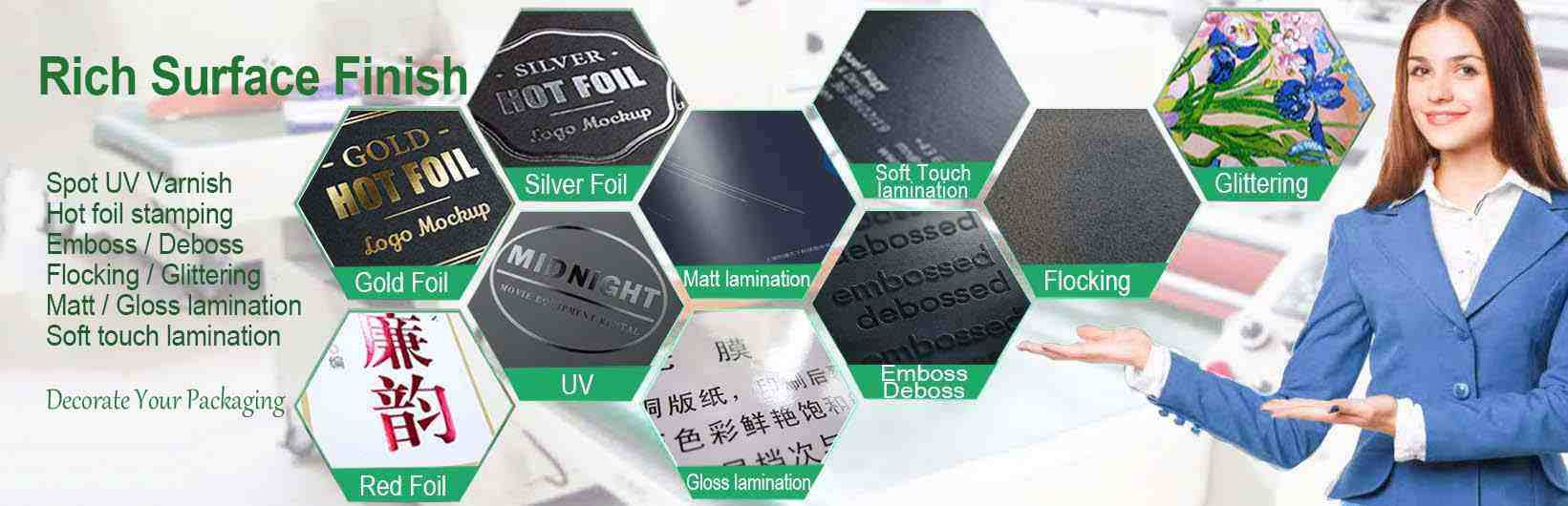 paper packaging rich surface finish