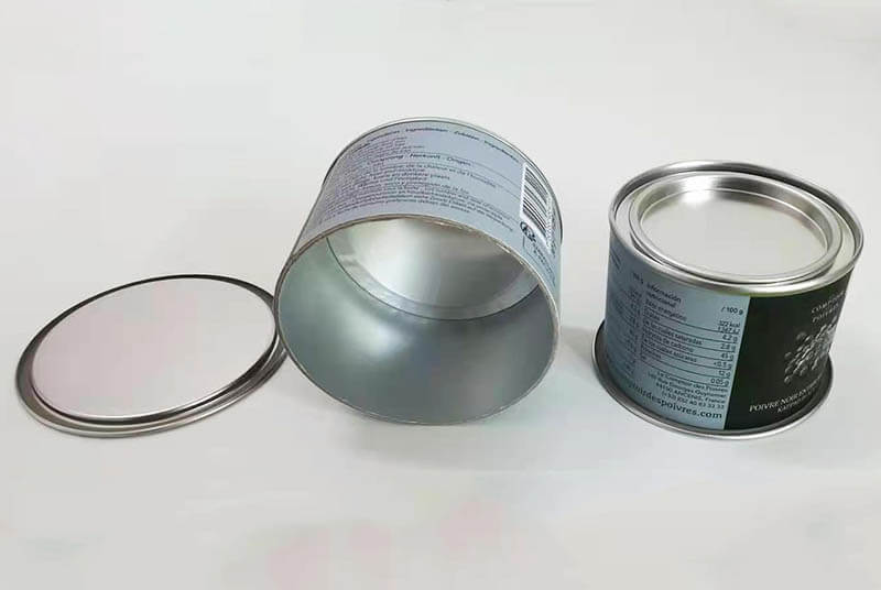 food grade airtight metal lid paper tube