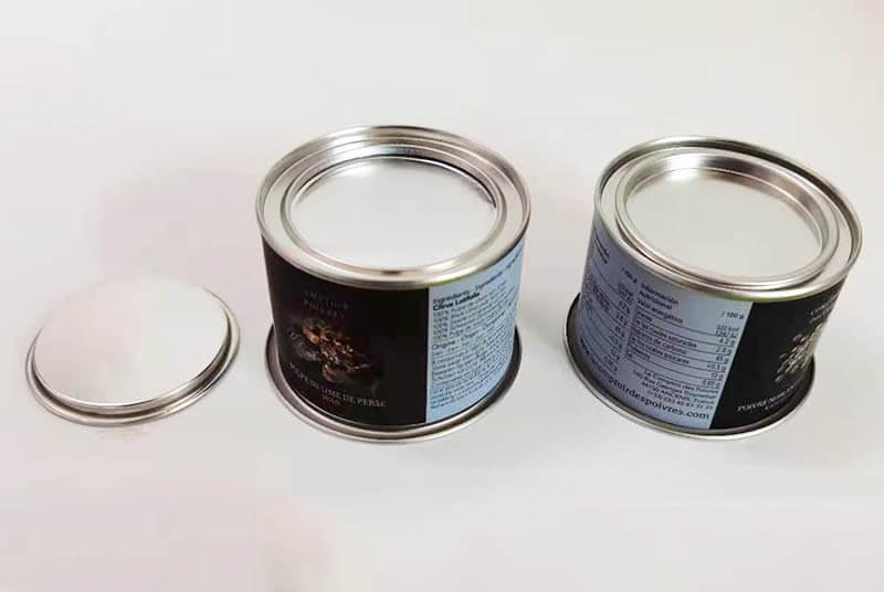 paper food powder tube airtight metal lids