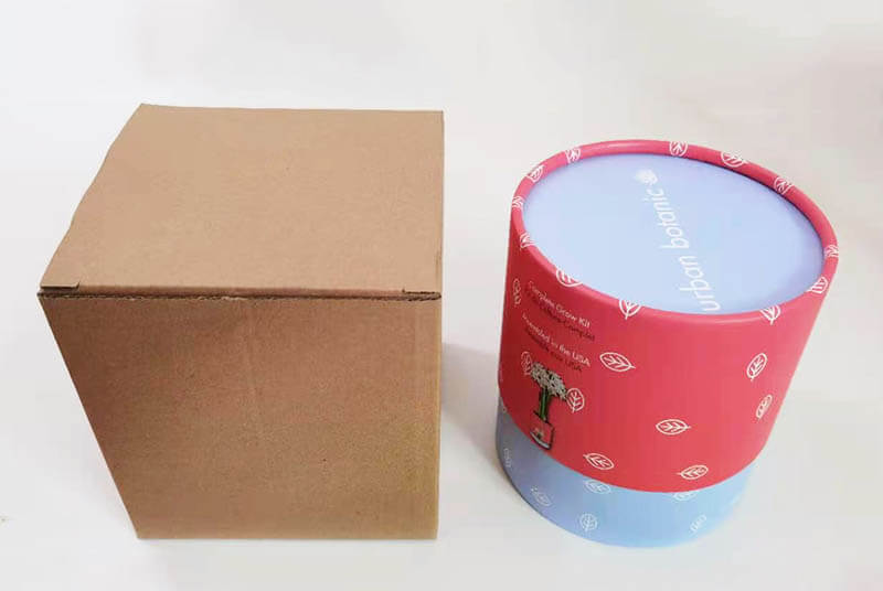 cardboard flower hat tube pot with mailers