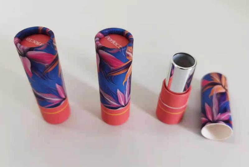 biodegradable cardboard lip stick tube empty