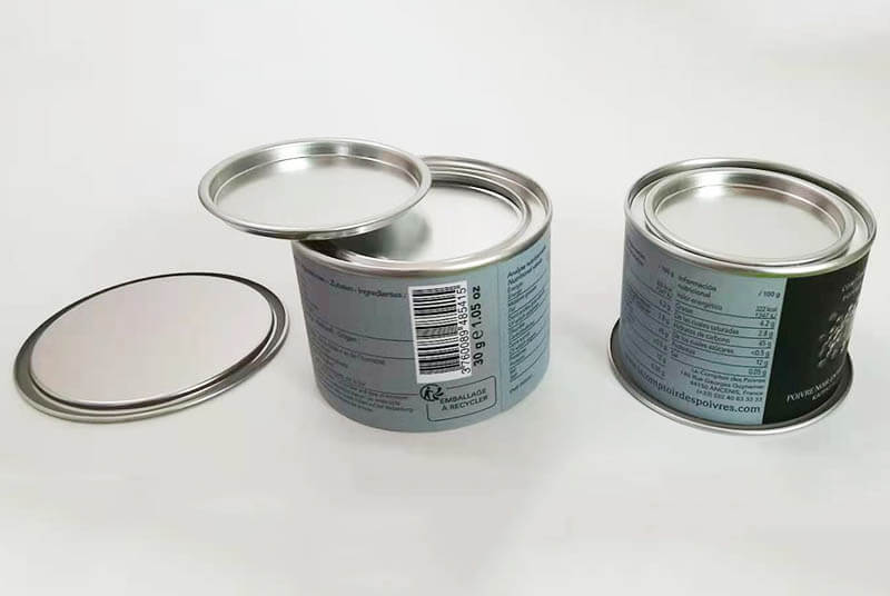 eco paper powder tube packaging with airtight seal lid