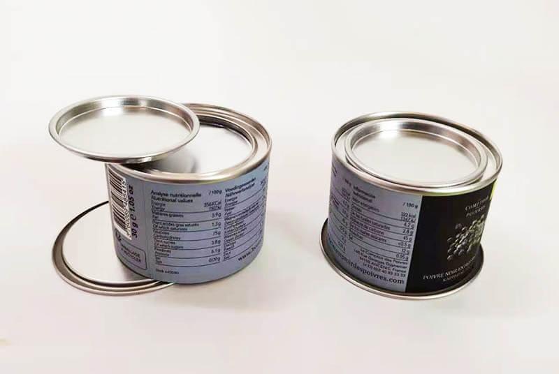 tin lid paper tube food grade