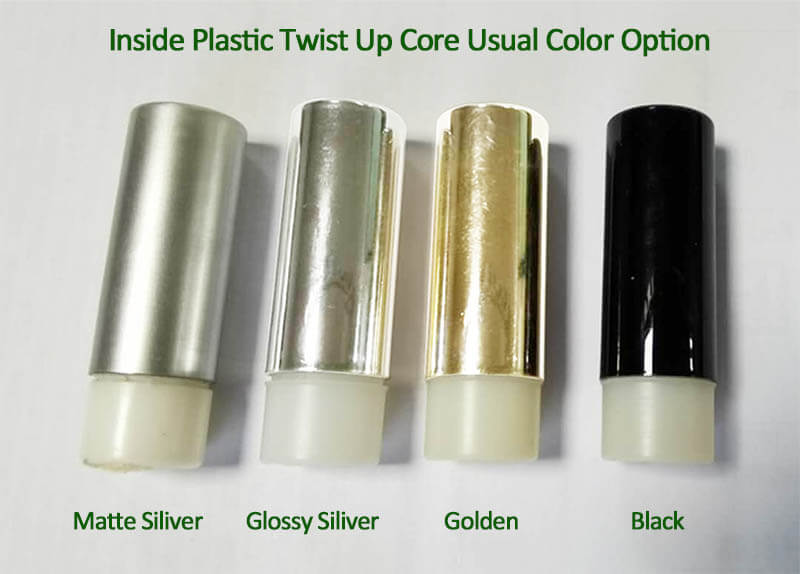 colored plastic twist up core