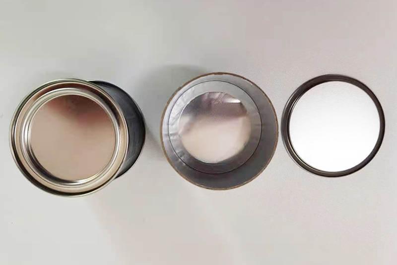food safe foil lined paper tube cap