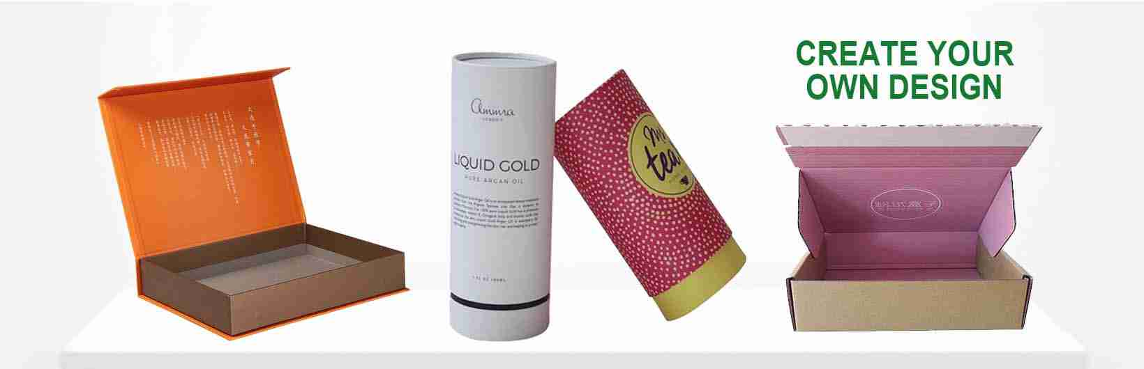 various paper packaging boxes