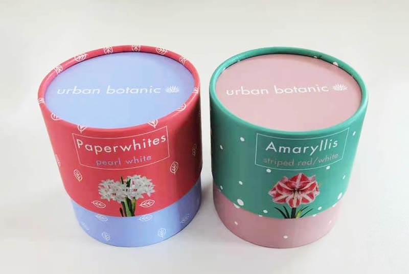 round tube paper flower pot