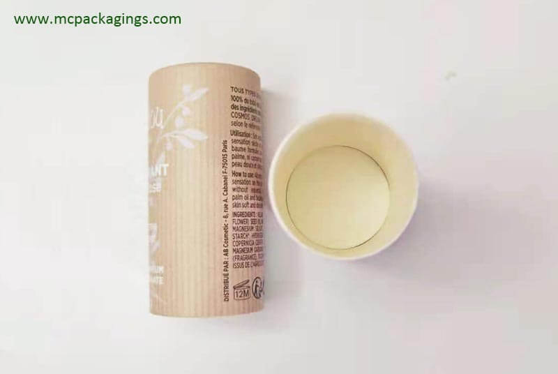 squeeze up deodorant cardboard tube