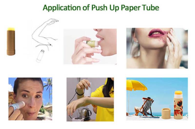 push up paper tubes usage