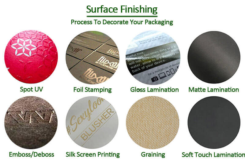 eco paper packaging surface finishing