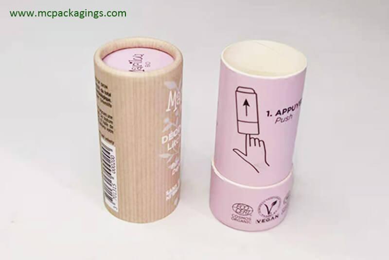 cardboard deodorant tubes packaging